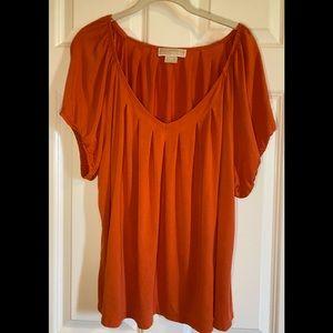 Michael Kors orange, short sleeve tee.